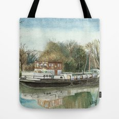 Rosa on the Grand Union Canal Tote Bag
