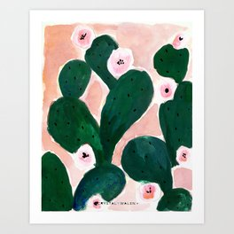 Art Print - Cactus Bloom - CRYSTAL WALEN