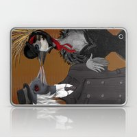 Demoiselle Crane And Gre… Laptop & iPad Skin