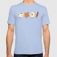 Let's All Go And Have Br… Mens Fitted Tee Tri-Blue MEDIUM