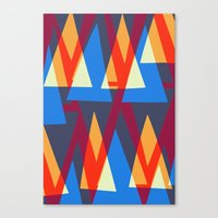 Up and Down Triangle Pattern Canvas Print