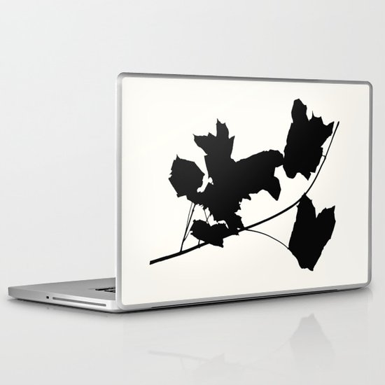 Maple Black Laptop & iPad Skin