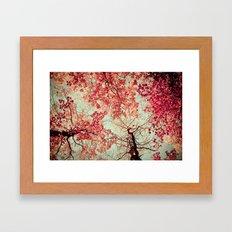 Autumn Inkblot Framed Art Print