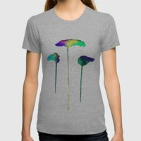 Raining Colour Womens Fitted Tee Athletic Grey SMALL