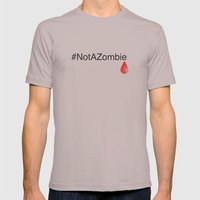 #NotAZombie Mens Fitted Tee Cinder SMALL