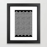 Black Lodge Zig Zag (Dis… Framed Art Print