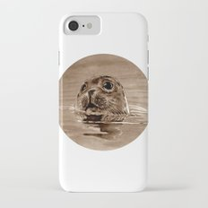 seal - sepia iPhone 7 Slim Case