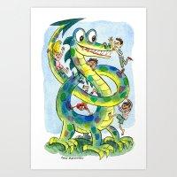 The Dragon Pretzel Conun… Art Print