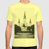 Heart and Soul of New Orleans Mens Fitted Tee Lemon SMALL