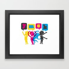 YMCK Framed Art Print