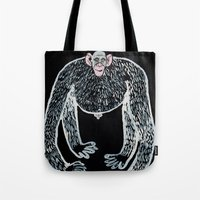 Ape And His Little Frien… Tote Bag