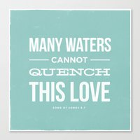 Many Waters Canvas Print