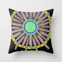 Radial Blame I Throw Pillow