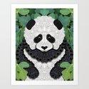 Little Panda Art Print