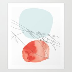 Drawing Maps to the Moon Art Print