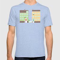 Little Houses Mens Fitted Tee Tri-Blue SMALL