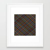 Weave 45 Black Framed Art Print