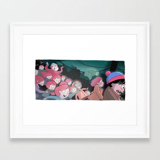 Night of the Living Gingers Framed Art Print