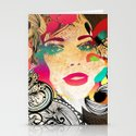 retro girl Stationery Cards
