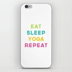 Eat Sleep Yoga Repeat Quote iPhone & iPod Skin