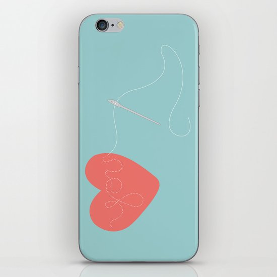 Stitched Heart iPhone & iPod Skin
