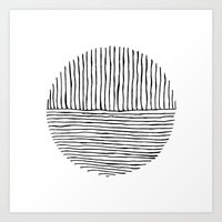 Circle : Vertical / Horizontal Art Print