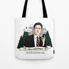 Twin Peaks (David Lynch) Agent Dale Cooper Tote Bag