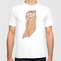 Bear Beard Mens Fitted Tee White SMALL