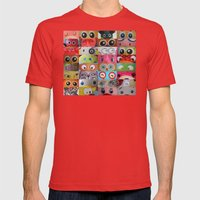 Eyes Eyes Eyes  Mens Fitted Tee Red SMALL
