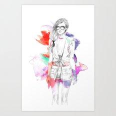 Top Shop Runway Art Print