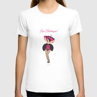 Burlesque Girl Womens Fitted Tee White SMALL