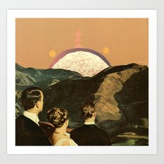 early reports indicate the sightings were faked Art Print