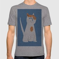 Sam the cat Mens Fitted Tee Athletic Grey SMALL