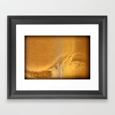 Ahoy! Sea Monster on Port Side! (Amber - No.11 Textile Series) Framed Art Print