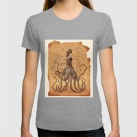 Lady Cthulhu Womens Fitted Tee Tri-Grey SMALL