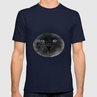 CATTURE Mens Fitted Tee Navy SMALL