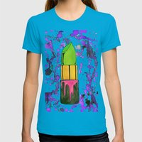 Toxic Beauty  Womens Fitted Tee Teal SMALL