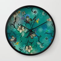 The Butterflies & The Bees  Wall Clock