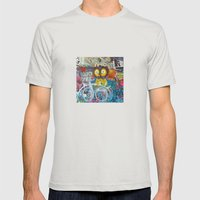Graffiti Love Mens Fitted Tee Silver SMALL