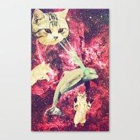 Galactic Cats Saga 2 Canvas Print
