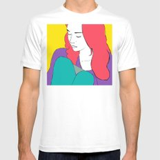 FIONA APPLE White SMALL Mens Fitted Tee