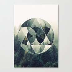 Geometric Forest Canvas Print