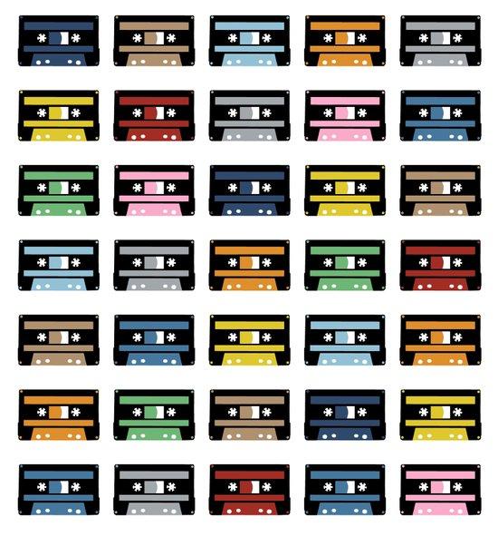 Rainbow Black Tapes Art Print