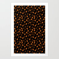 Aliens-Orange Art Print