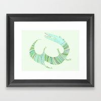 Mr Croc Framed Art Print