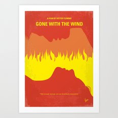 No299 My Gone the Wind with minimal movie poster Art Print