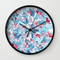 Shattered Floral Wall Clock