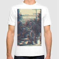 Movie Script Ending White Mens Fitted Tee SMALL