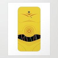 C3P0 iPhone Case Art Print