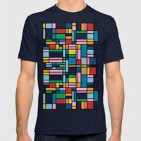 Map Outline Mens Fitted Tee Navy SMALL